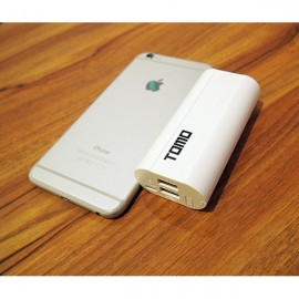 TOMO V8 2 x 18650 Battery Charger 2 Slots Power Bank White
