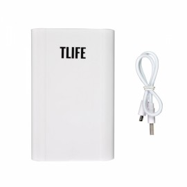 TLIFE Intelligent Portable 4 Slots 18650 Battery Mobile Power Bank Charger White