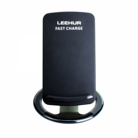 LEEHUR Portable ABS Fast Charging Wireless Charger Black