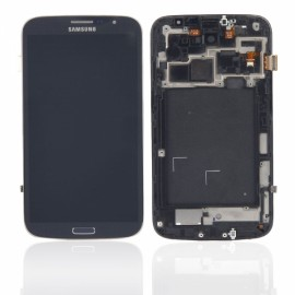 Touch Screen + LCD Screen with Frame for Samsung Galaxy Mega 6.3 i9200 LTE i527 i9205 Black & Blue Border