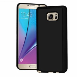 Anti-Gravity Magic Selfie Sticky Nano Protective Shockproof Case for Samsung Note 5-Black