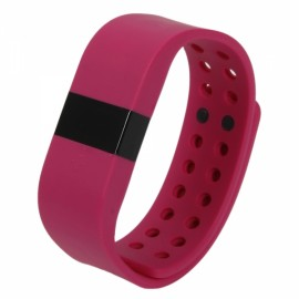 DiGiCare ERI LED Real Time Display Update Waterproof Bluetooth Wrist Watch Wireless Smart Bracelet Rose Red