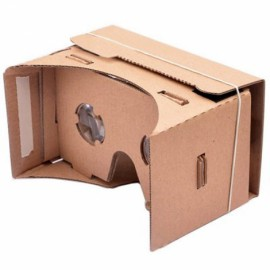 "DIY Cardboard Magnetic Sensor Virtual Reality VR Glasses for 4-6"" Smartphone Khaki"