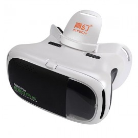 "RIEM3 Plus 3D VR BOX Virtual Reality 3D Glasses Google Cardboard for 4.7 to 6.0"" Smartphone White"