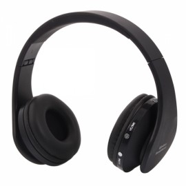 NX-8252 Foldable Wireless Stereo Sports Bluetooth Headphone Headset with Mic for iPhone/iPad/PC Black