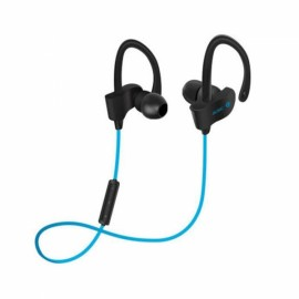 Wireless Bluetooth 4.1 Stereo Earphones with Mic Sports Music Sweatproof Headset for iPhone Xiaomi iPad Blue