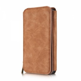 PU Leather Multi-functional Wallet Phone Case Back Cover for Samsung Galaxy S7 Edge Brown
