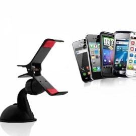 Upgraded Plastic Universal Adjustable Car Mount Stand Holder for Mobile Phone Black