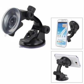 360-Degree Rotatable Double Suction Cups Car Mount Holder for Smartphones / GPS Black