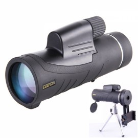 CEENDA 10X42 Monocular Handheld Telescope HD Optic Wide Angle Eyepiece Night Vision Lens with Tripod & Multi-purpose Phone Holder