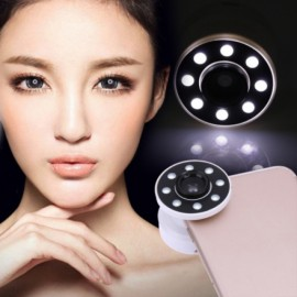 Mobile Lens Air Sac LED Phone Light Macro Wide Range Smoother Skin Selfie Light White