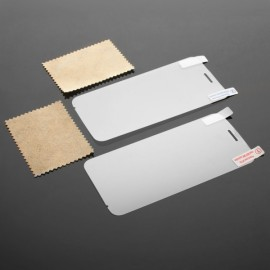 2pcs Glossy PET Screen Protectors with Cleaning Cloth for Doogee DG310 Transparent