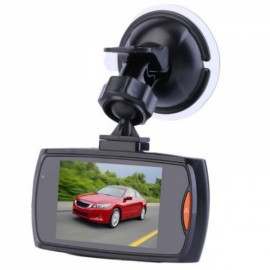 "G30 H300 2.4"" LCD 720P 120-Degree Wide Angle Motion Detection Night Vision G-Sensor Car DVR Video Recorder Dash Cam Black"