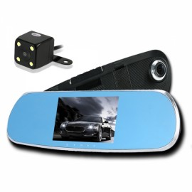 "5"" 1080P Android Built-in GPS Navigation WiFi Car Rearview Mirror Dual Lens Car DVR Camera Recorder Europe Map"