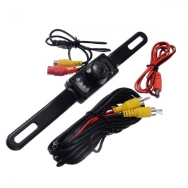 170 Degrees Wide Angle Waterproof Universal CCD High-definition Car License Plate Rear View Camera Black