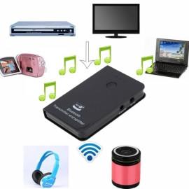 TS-BT35F202 Wireless Bluetooth V2.1 + EDR Audio Transmitter Splitter with 3.5mm Plug Black