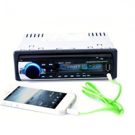 12V Bluetooth Car Stereo FM Radio MP3 with USB/SD MMC Port Audio Player 5V Charger In-Dash 1 DIN