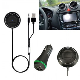 NFC Car Bluetooth Handsfree Kit Aux Speaker 3.5mm Audio Music Adapter Receiver Black
