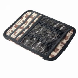 Card/CD/VCD/Mobile/Sunglasses Multi-function Car Bags Brown and Black CLD-720