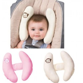 Adjustable Baby Car Seat Protection Headrest Protective Head Support Pillow Pink