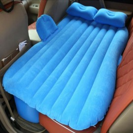 Self-drive Inflatable Car Bed Air Mattress with Ear Blue