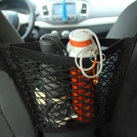 Car Back Rear Trunk Seat Elastic String Net Mesh Storage Bag