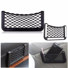Car Auto Mesh Storage Bag Resilient String Phone Bag Holder Organizer 15*8cm