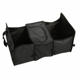 Multifunctional Collapsible Car Boot Travel Storage Bag Non-woven Tool Organizer Black