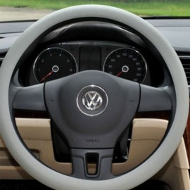 Soft Non-Slip Silicone Car Auto Steering Wheel Cover Light Gray