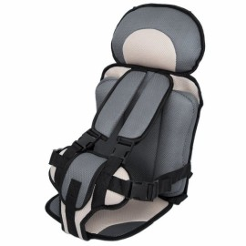 Portable Thickened Baby Child Safety Car Seat Beige & Gray L