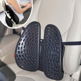 Car Seat Chair Massage Back Lumbar Support Mesh Ventilate Cushion Pad Black
