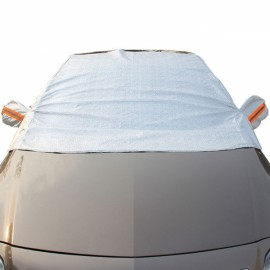 Thicken Sunshade Waterproof Anti-UV Snow Protection Cover Car Windscreen Cover for Ordinary Cars Gray