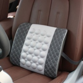 Electric Massage Lumbar Support Car Pillow Massage Cushion Gray