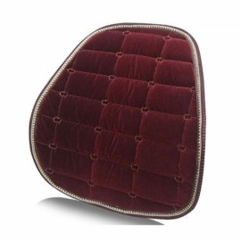 Winter Car Seat Chair Waist Back Support Flocking Plush Cushion Pad Red