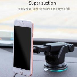 MEIDI Magnetic Phone Holder Stand Suction Car Center Console Windshield for iPhone Samsung Xiaomi Rose Golden