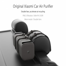 Xiaomi MiJia Car Air Purifier Air Freshener Bluetooth 4.1 Smart Phone Remote Control Black