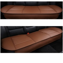 PU Leather Car Vehicle Interior Long Rear Seat Cushion Backseat Cover Coffee