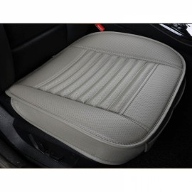 PU Leather Cushion Car Seat Cover Side Full Cover Seats Protect Mat Gray