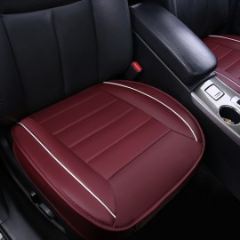 50x50cm PU Leather Car Cushion Seat Chair Cover Auto Interior Pad Mat Wine Red