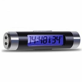 Car Air Vent Digital LCD Display Thermometer Temperature Monitor Time Clock Black