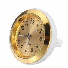 Car A/C Vent Clip Thermometer Clock Gauge Trim Perfume Refill Storage Fragrance with 140g Perfume-Golden Clock
