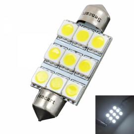 6500K 126LM 9 SMD LED White Light Bulb 42mm (DC 12V)