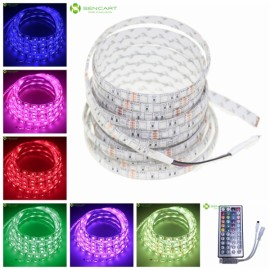 5m 72W 300-SMD5050 RGB Light Waterproof LED Strip Lamp + 44-Key RF Controller (DC 12V)