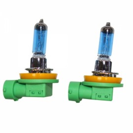 2pcs PEGASUS H11 12V 100W 2100LM 6000K White Automobile Headlights Blue & Green & Yellow