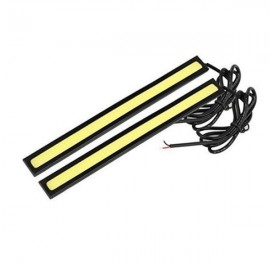 1 Pair Waterproof LED COB Car LED Light DRL Fog Driving Lamp Light 14cm White Light