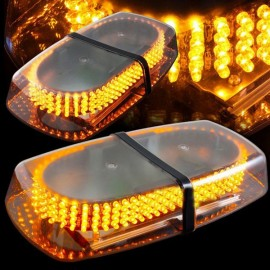 240-LED Car Roof Top Light Explosion Emergency Flashing Warning Light Strobe Light Yellow