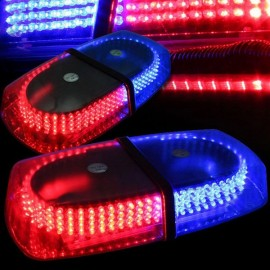 240-LED Car Roof Top Light Explosion Emergency Flashing Warning Light Strobe Light Red & Blue