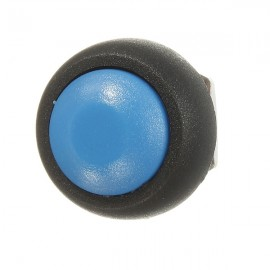 Car Auto Momentary OFF / ON Push Round Button Horn Switch Blue