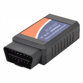 ELM327 OBD Wi-Fi Auto Car Diagnostic Tool for iPhone/Android Phones Black & Orange & Blue