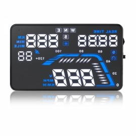 "Q7 5.5"" Car HUD Head Up Display GPS OBD2 Speed Warning System Fuel Consumption"